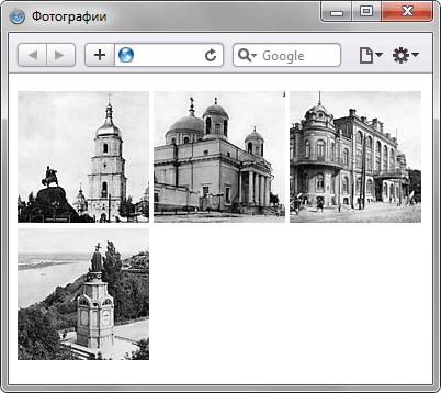 Как разместить несколько картинок рядом по горизонтали - «Изображения»