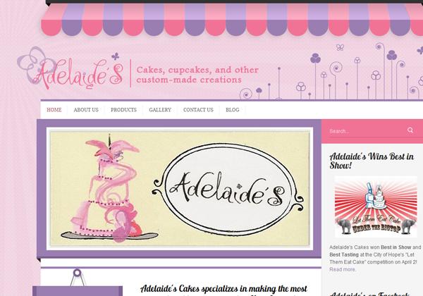 Дизайны сайтов кондитерских и магазинов тортов - «Дизайны сайтов»