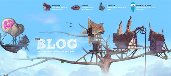 Дизайны сайтов с иллюзией объема (3D) - «Дизайны сайтов»