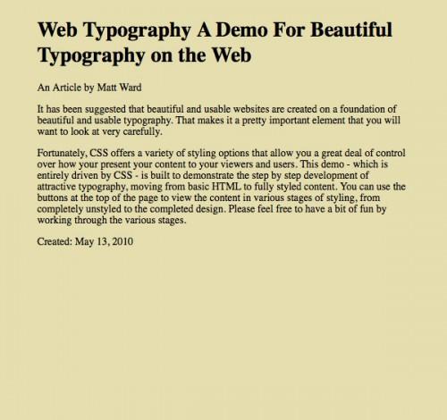 Оформление текста с помощью CSS3 на практике - «Верстка»
