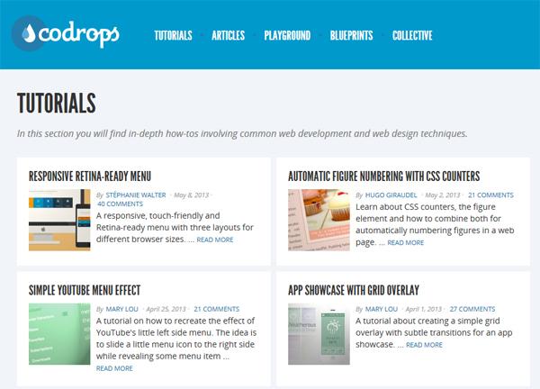 Продвинутые CSS туториалы на Codrops - «Верстка»