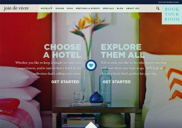 Лучшие дизайны сайтов отелей - «Дизайны сайтов»