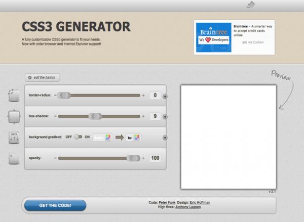 Подборка отличных генераторов CSS3 и HTML5 - «Верстка»