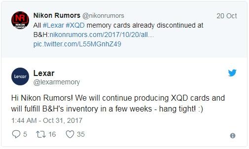 Lexar продолжит выпускать XQD-карты памяти - «Новости сети»