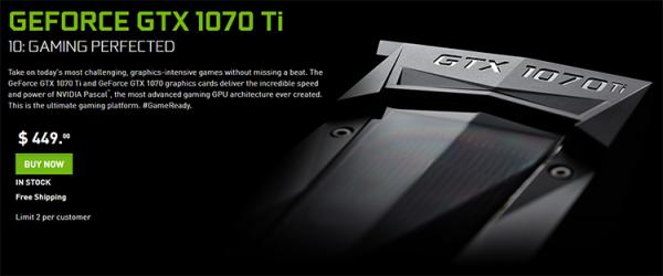 GeForce GTX 1070 Ti: старт мировых продаж - «Новости сети»