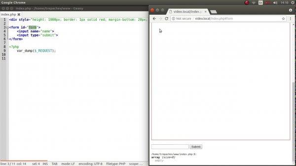 Отправка HTML формы на определенное место страницы  - «Видео уроки - CSS»