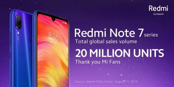 Redmi похвасталась продажей более 20 млн смартфонов Note 7 по всему миру - «Новости сети»