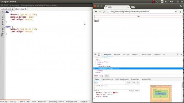 Распространенные ошибки при работе со строчными и блочными элементами в CSS  - «Видео уроки - CSS»