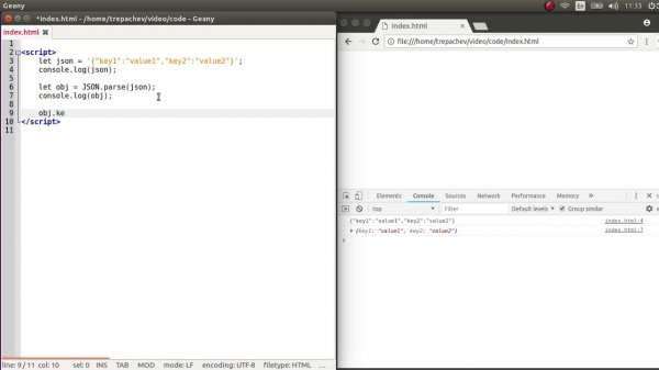 Внесение изменений в строку в формате JSON  - «Видео уроки - CSS»